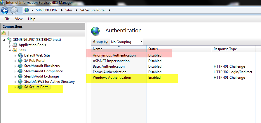 IIS Authentication Secure