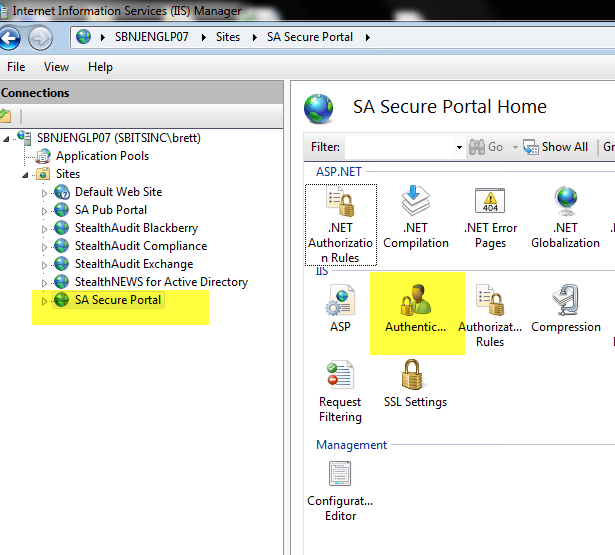 How to Secure a Default IIS Site & Enable Windows Authentication