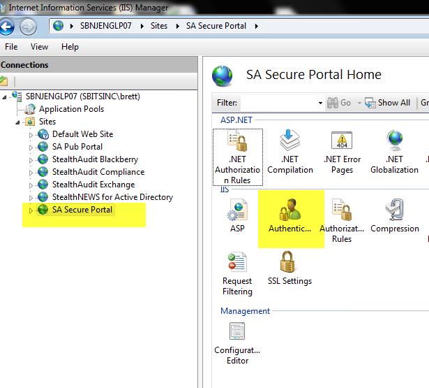 IIS Secure Portal