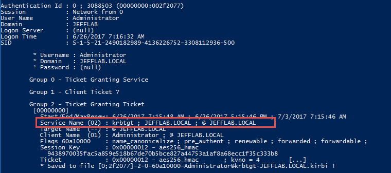 TGT ticket captured on a computer with unconstrained delegation enabled to use Kerberos::ptt command to pass-the-ticket and get Domain Admin rights