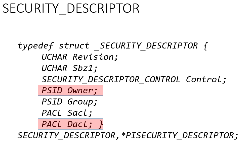 Discretionary access control list (DACL)