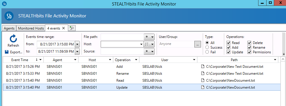 STEALTHbits File Activity Monitor