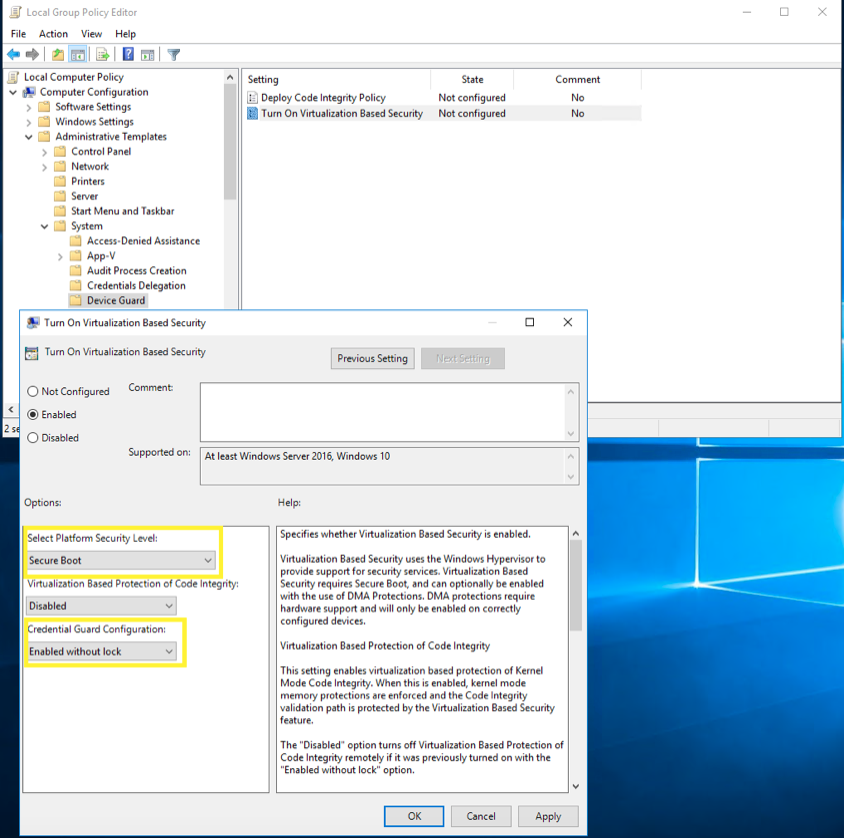 Defender Credential Guard - Windows 10 Security Features