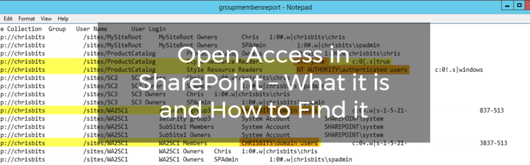 Open Access in SharePoint – What it is and How to Find it