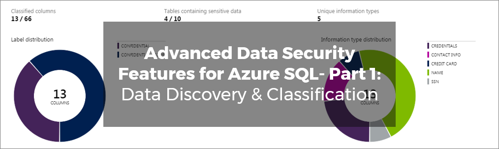 Advanced Data Security Features for Azure SQL- Part 1 Data Discovery & Classification