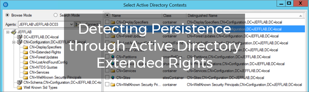 Detecting Persistence through Active Directory Extended Rights