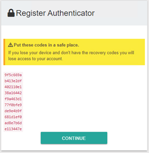 Register Authenticator