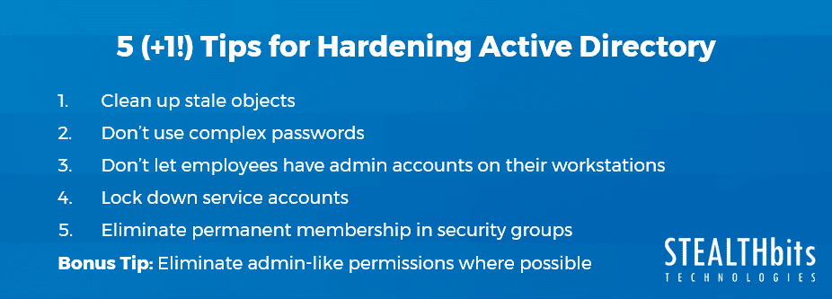 5 (+1!) Tips for Hardening Active Directory