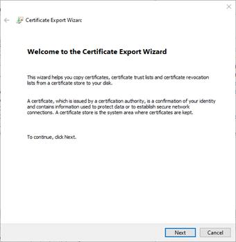 Certificate Export Wizard2