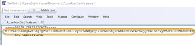 Certificate data on clipboard