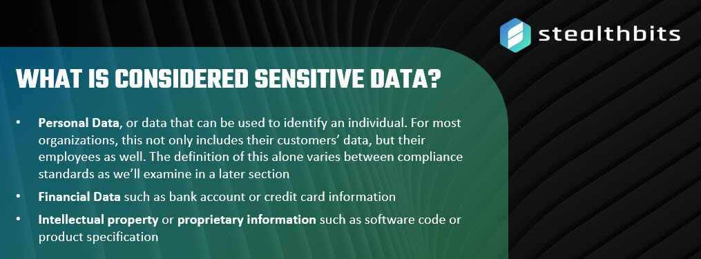 What is considered sensitive data?