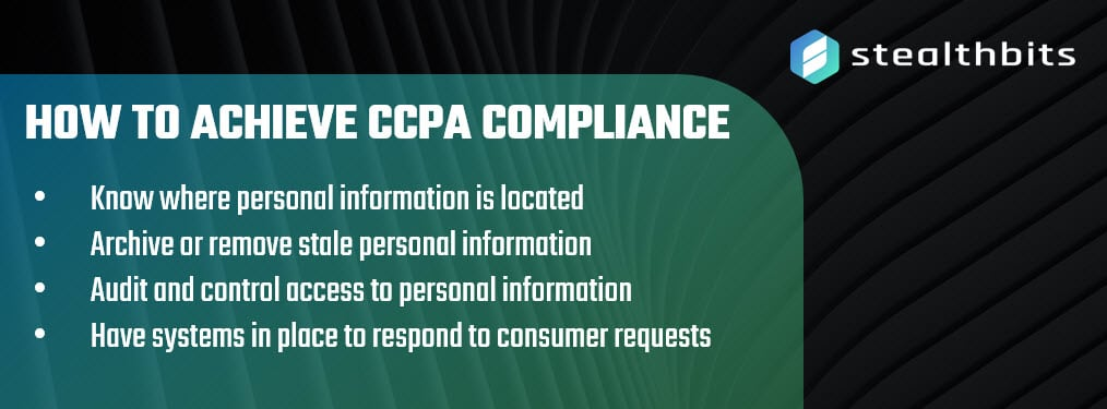 How to Achieve CCPA Compliance