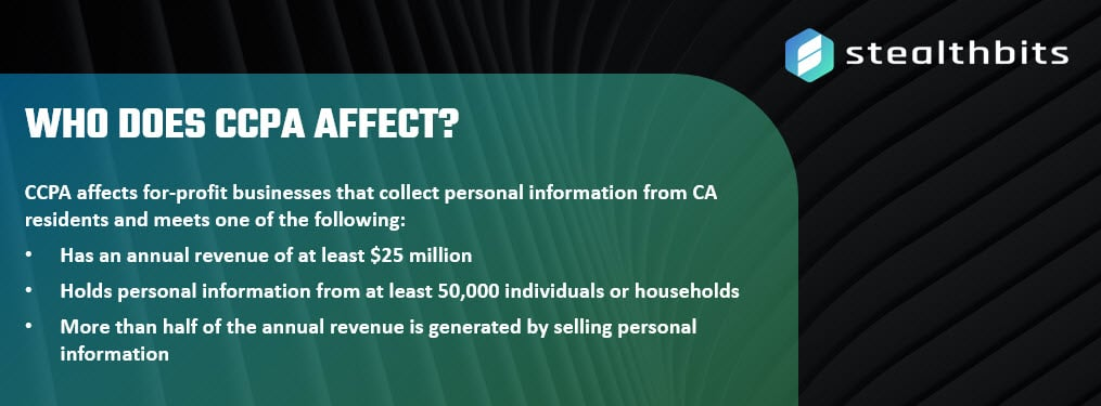 Who Does CCPA Affect?